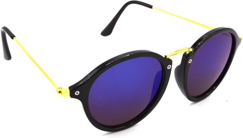 Hrinkar Round Sunglasses(Blue) image