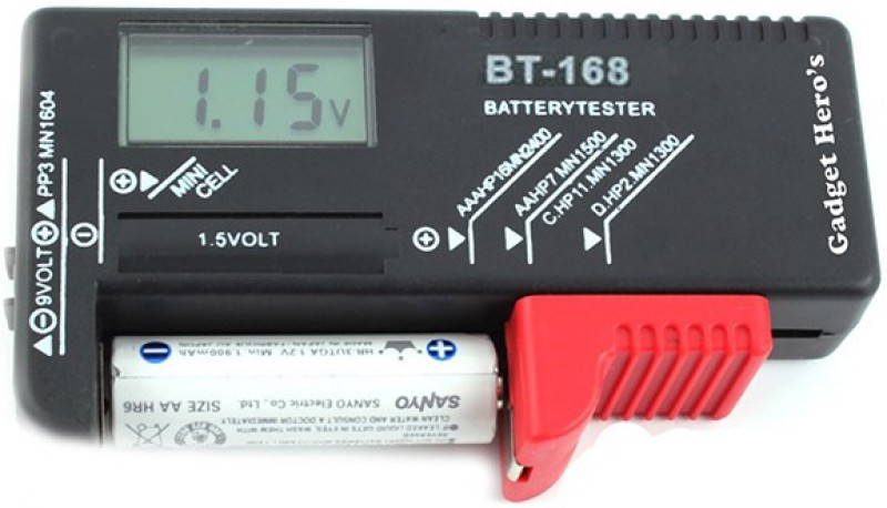 Gadget Hero's Universal Volt Checker Digital Battery Tester