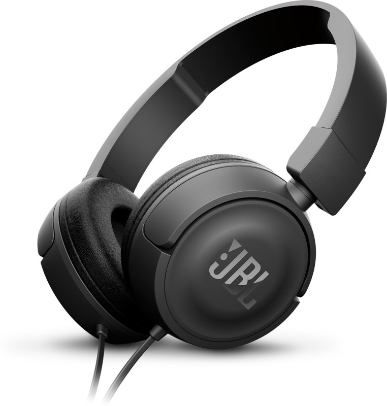 JBL T450 Headset with Mic(Black, On the Ear)