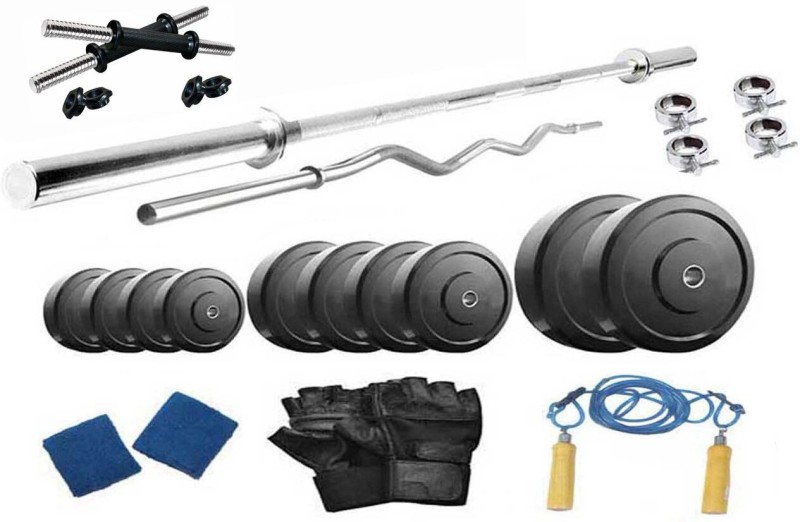 Protoner 34 kg PVC weight with 4 rods Home Gym Combo(20 - 40 kg)