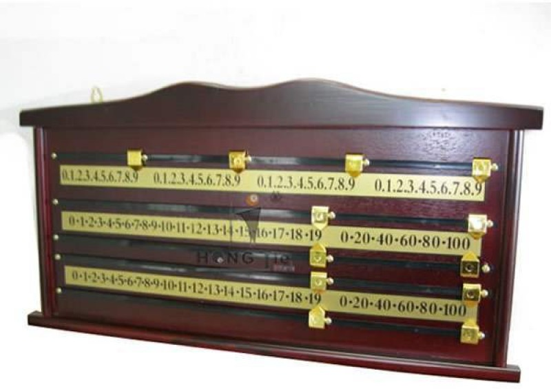 21 Balls Wooden Score Board Home Pool Table