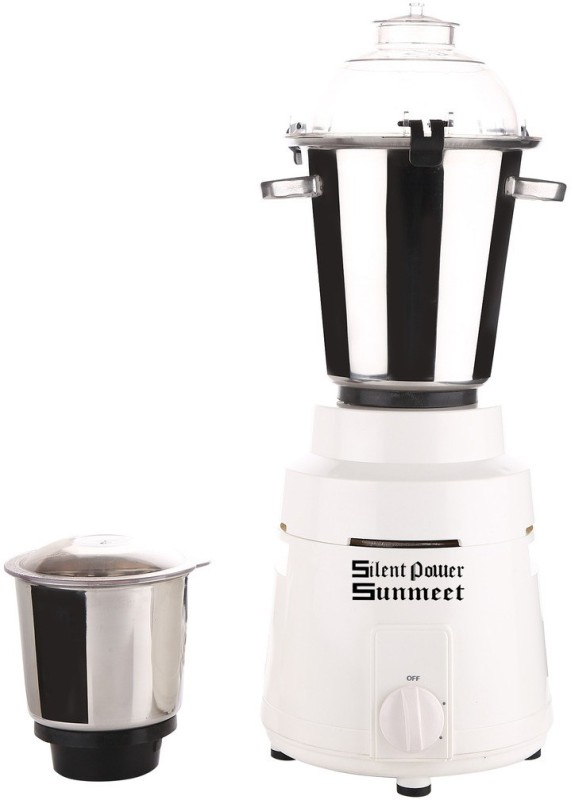 SilentPowerSunmeet COMM_MA17_1 1200 W Mixer Grinder(White, 2 Jars)