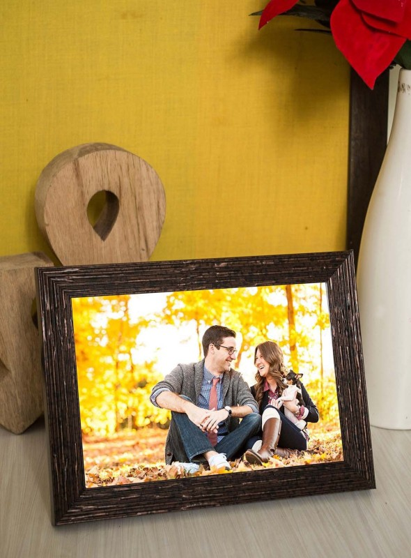 Painting Mantra MDF Photo Frame(Brown, 1 Photos)