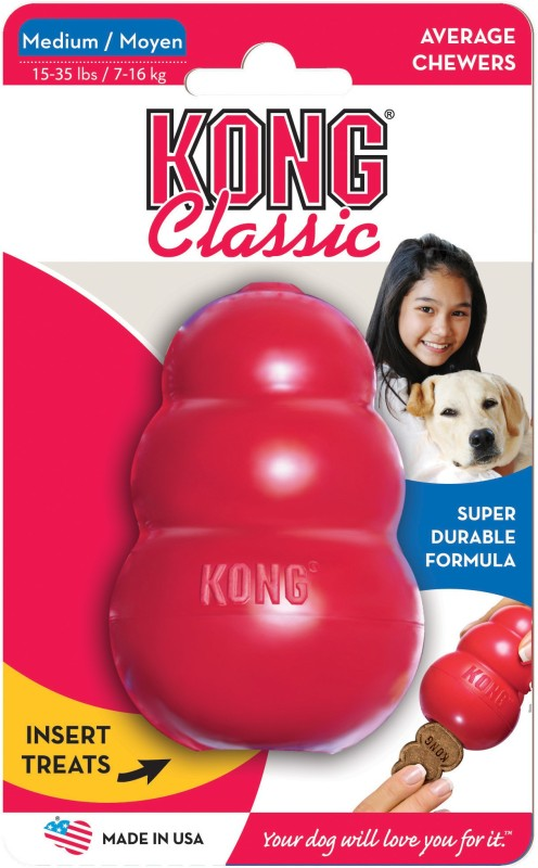 Kong Kong Classic Large Rubber Treat Dispensing Toy For Dog