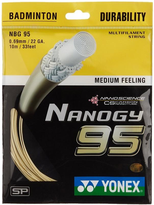 Yonex Nanogy 95 0.69 Badminton String - 10 m(Gold)