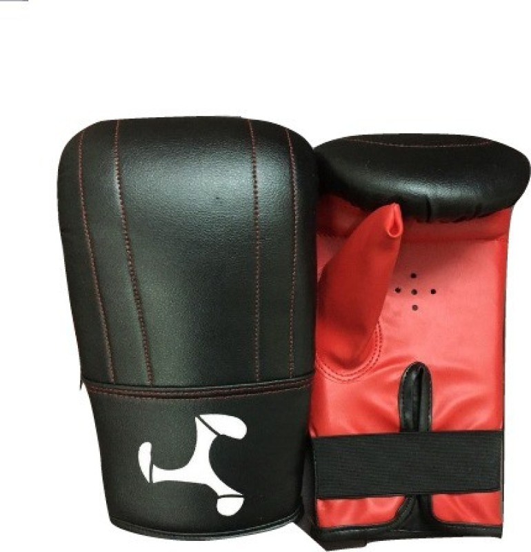 Le Buckle Straight Mitts Gloves Boxing Gloves (Men, Black, Red)