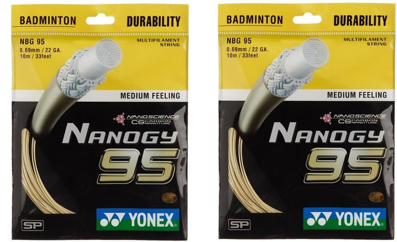 Yonex Nano GY 95 0.69 Badminton String - 10 m(Gold)