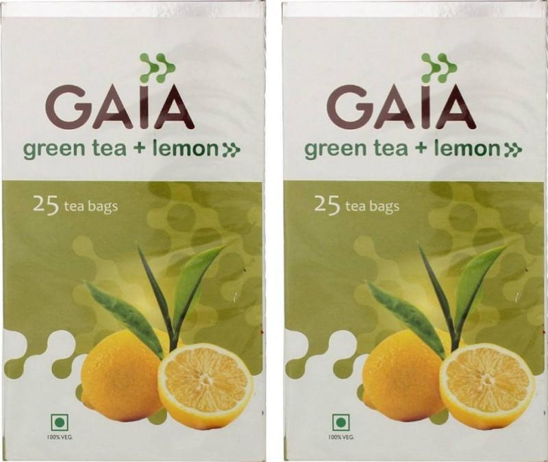 GAIA Lemon 25TB (Pack of 2) Lemon Green Tea(50 g, Box)