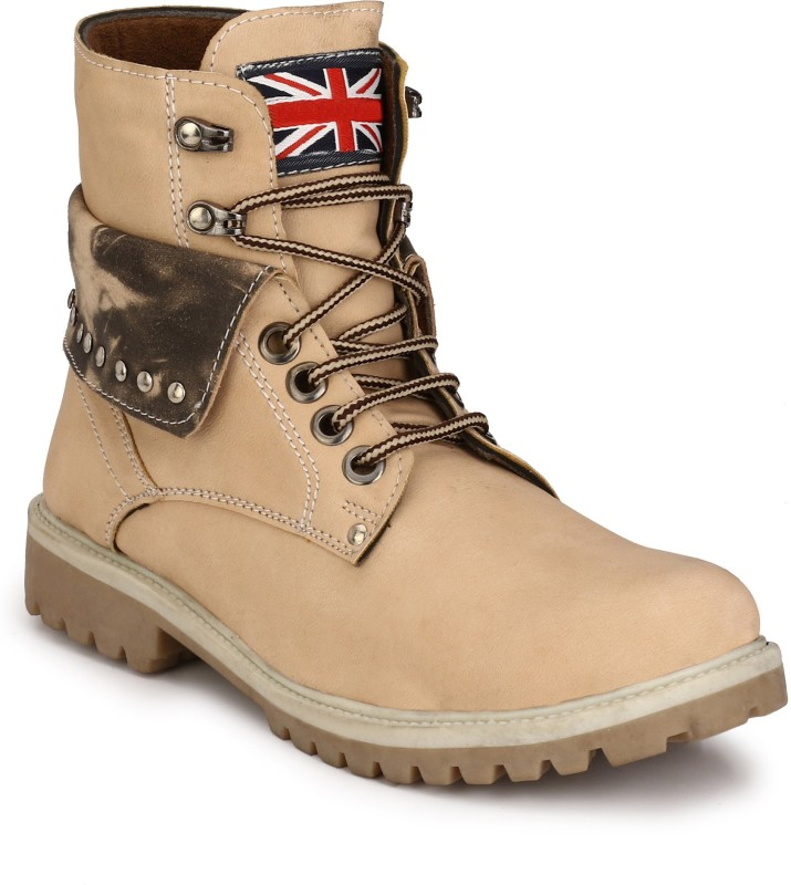 Eego Italy Stylish and Trendy Boots For Men(Beige)
