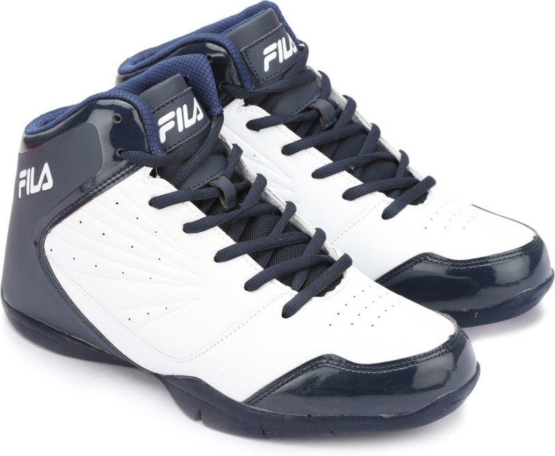 Fila BasketBall Shoes For Men(Navy, White)