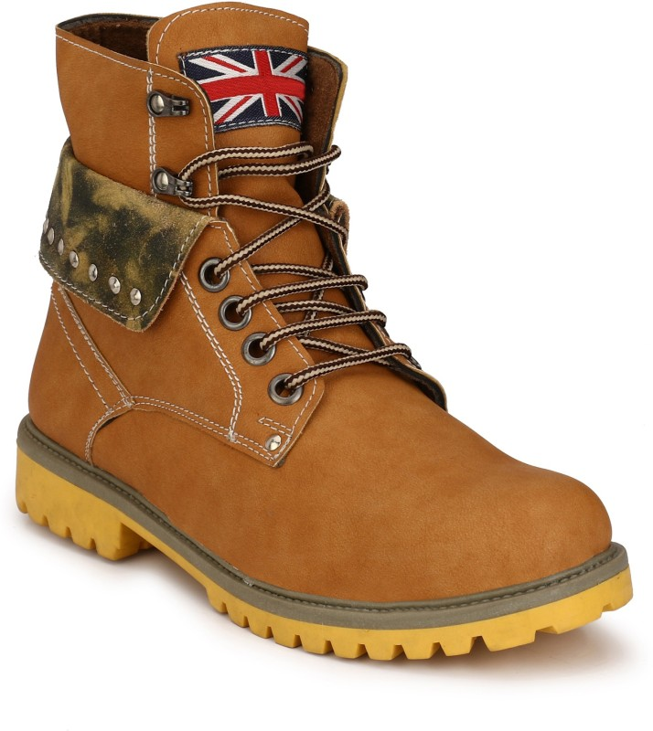 Eego Italy Stylish and Trendy Boots For Men(Tan)