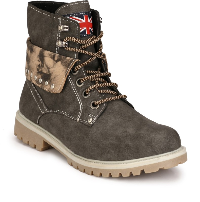 Eego Italy Stylish and Trendy Boots(Grey)