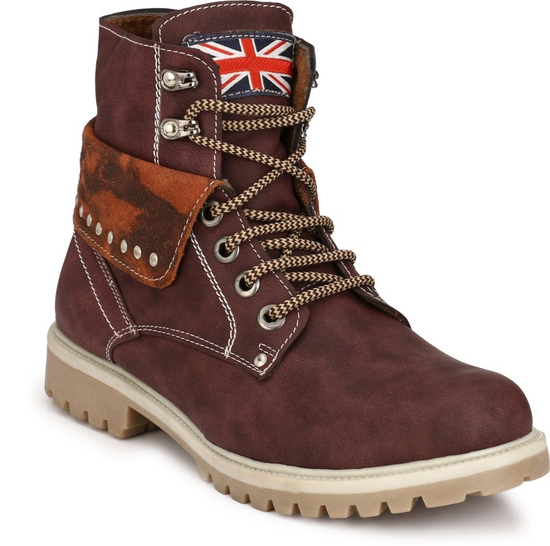 Eego Italy Stylish and Trendy Boots For Men(Purple)