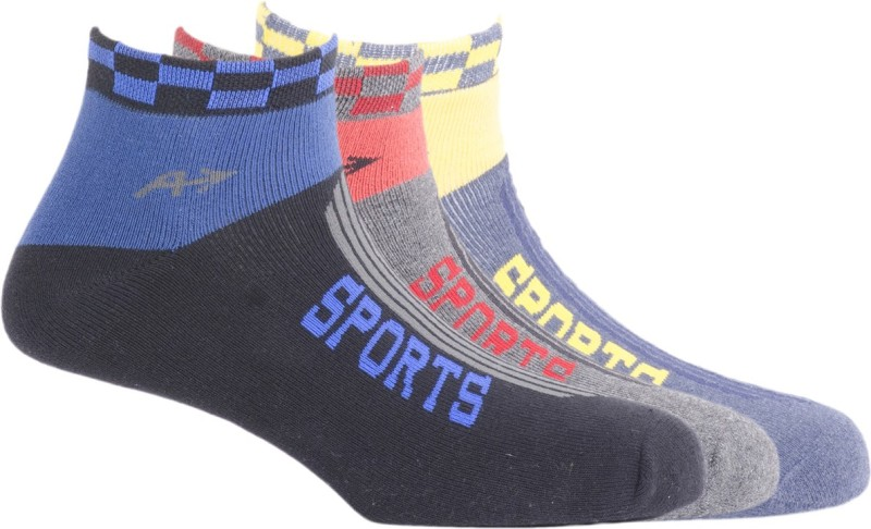 Arrow Mens Striped Low Cut Socks(Pack of 3)