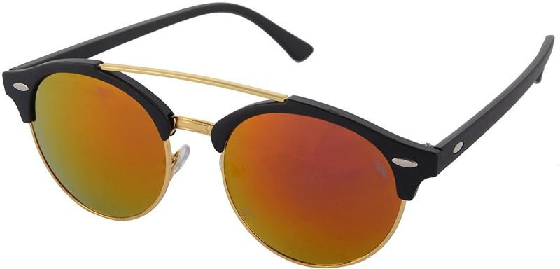 Aventus Round, Clubmaster Sunglasses(Red)