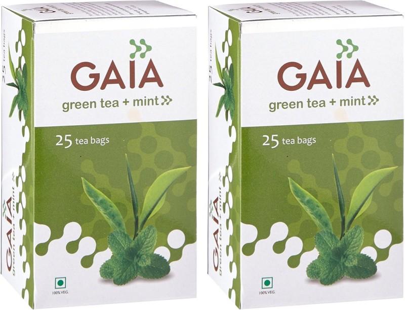 GAIA Mint 25TB (Pack of 2) Mint Green Tea(50 g, Box)