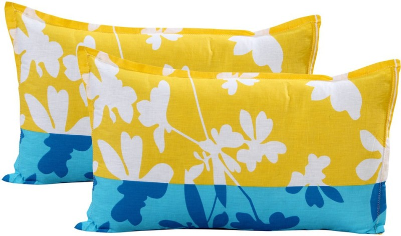Home Elite Floral Pillows Cover(Pack of 2, 46 cm*69 cm, Multicolor)