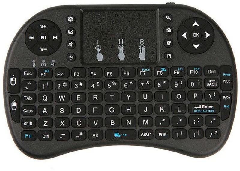 FLIPFIT 3D VIRTUAL GAMING AIR FLY MOUSE CUM STYLISH QWERTYY Virtual Laser Laptop Keyboard(Black) image