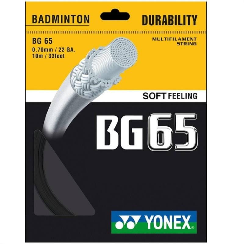 Yonex BG 65 0.7 Badminton String - 10 m(Black)
