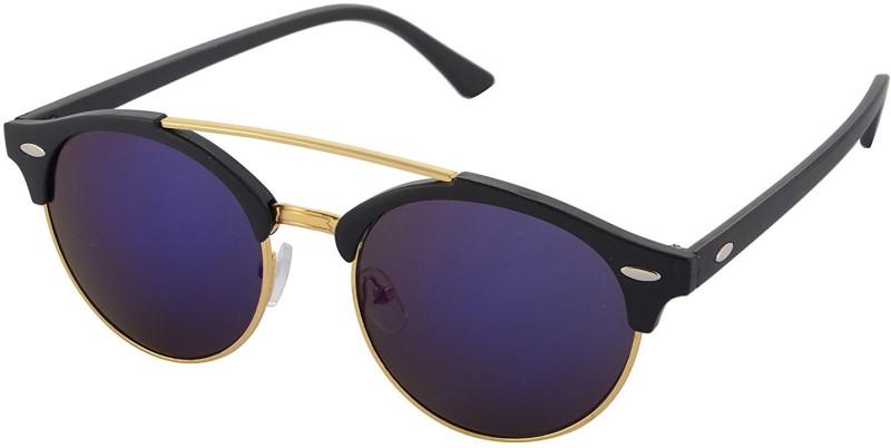 Aventus Round, Clubmaster Sunglasses(Blue)