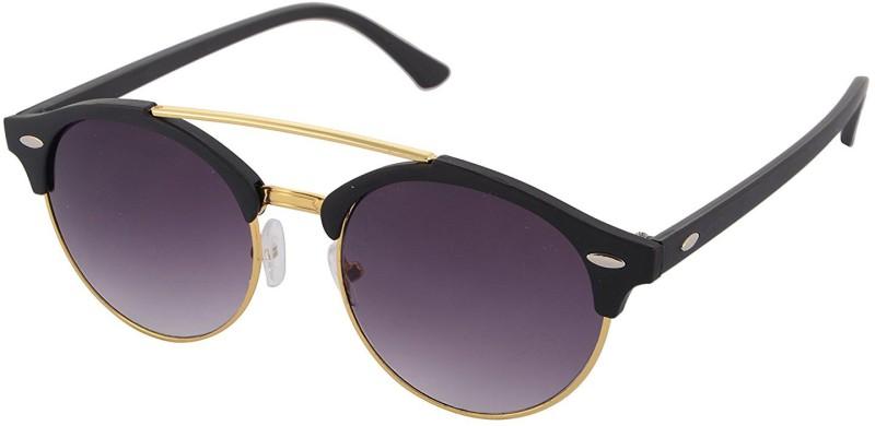 Aventus Round, Clubmaster Sunglasses(Black)