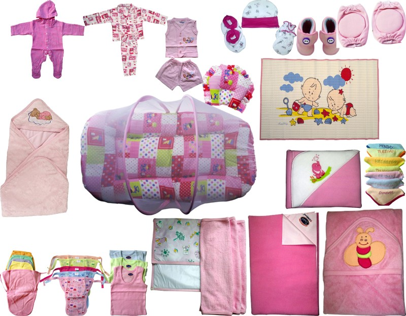 Xchildhood Newborn Baby Care All Products Combo Set .(Multicolor)