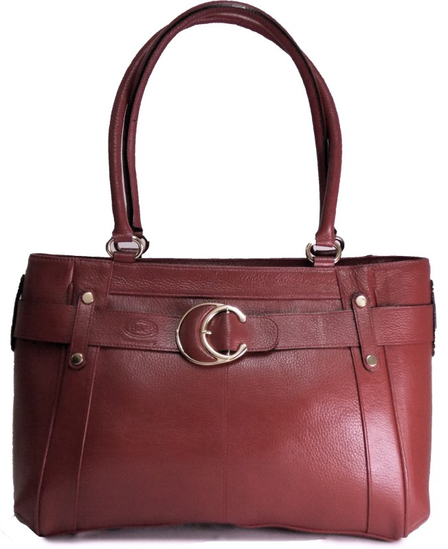 B&F Pat Buckel Red Shoulder Bag(Red, 5 L)