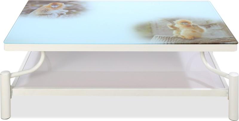 Nilkamal Nobby Glass Coffee Table(Finish Color - Pink)