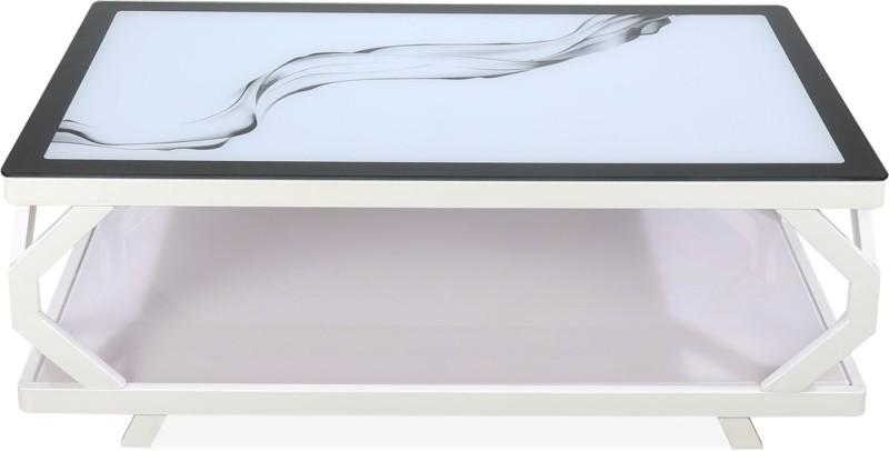 Nilkamal Elisa Glass Coffee Table(Finish Color - White)