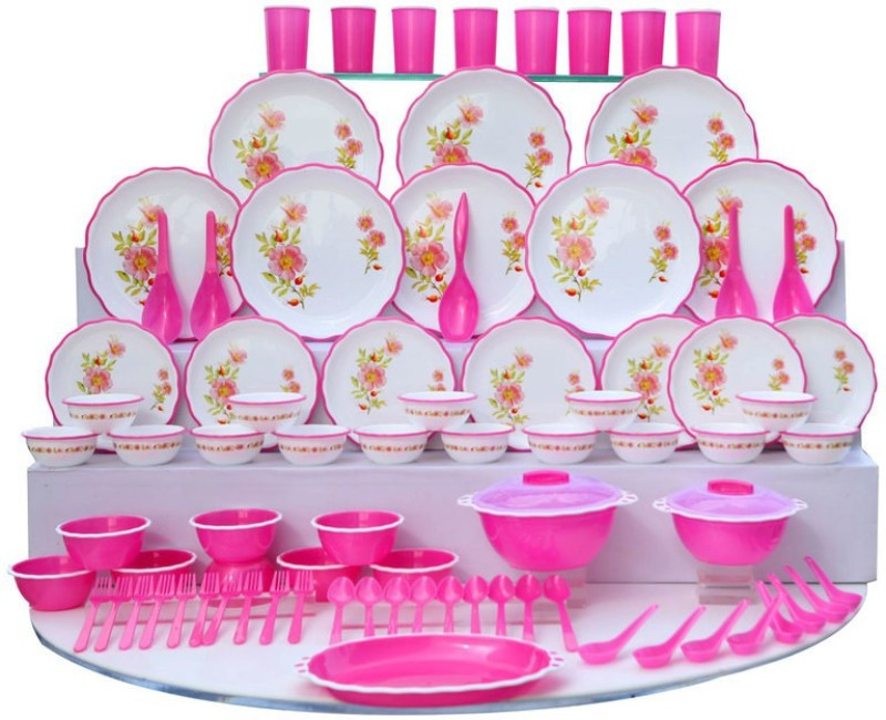 Joyo Designer Microwave Pack of 84 Dinner Set(Plastic)