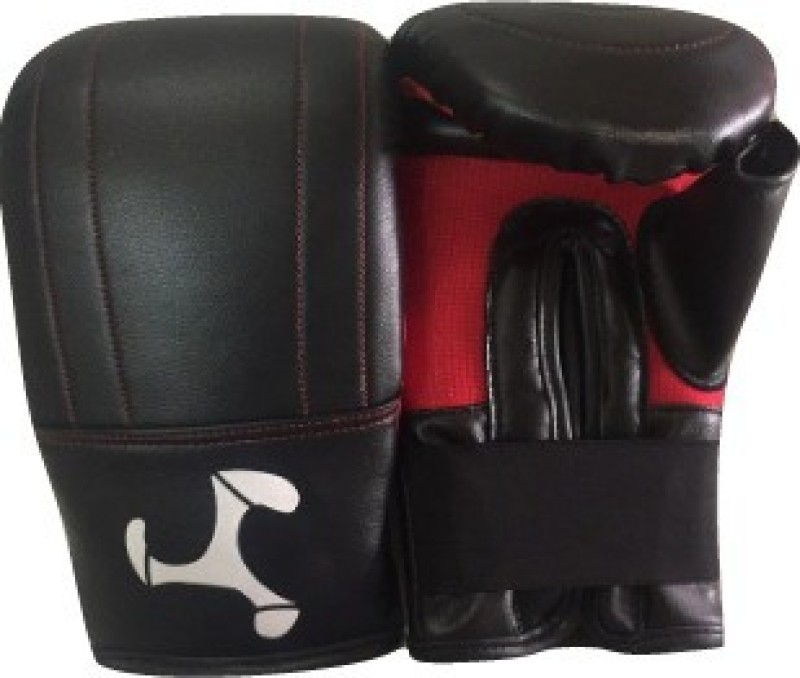 Le Buckle Straight Gloves Boxing Gloves (Boys, Black, Red)