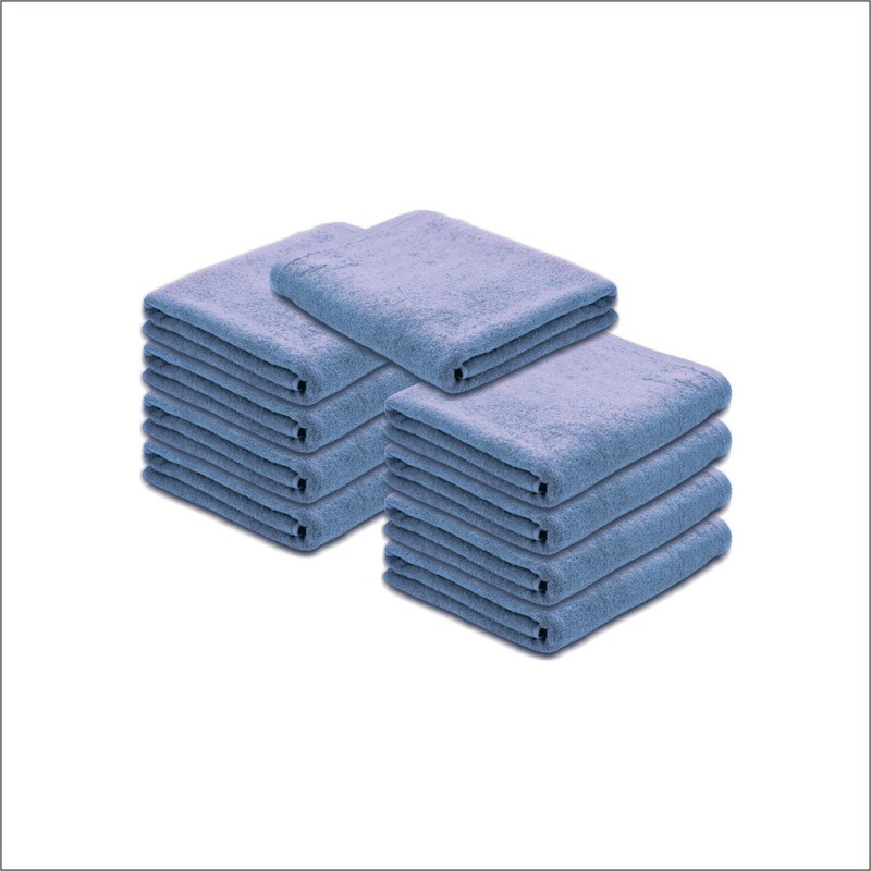Juvenile Cotton Terry 2000 GSM Hand Towel(Pack of 9, Blue)