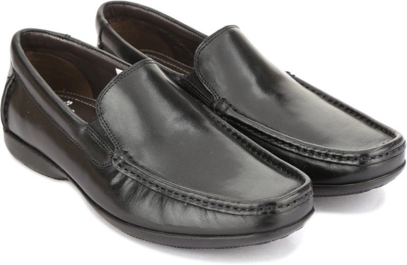 Clarks FINER SUN BLACK LEATHER loafers For Men(Black)