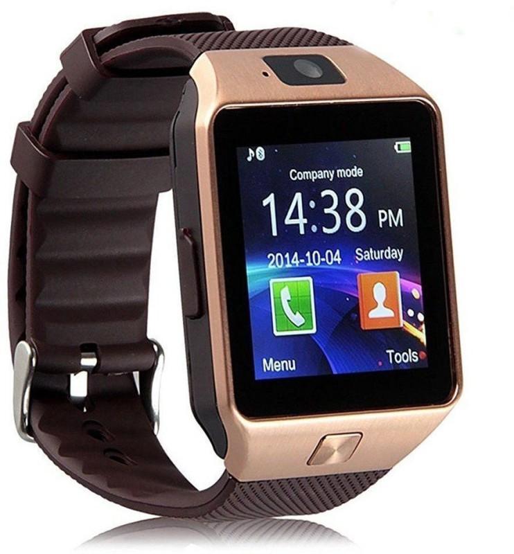 OSR Traders Dz09 Smart Phone Watch Smartwatch(Brown Strap Regular)