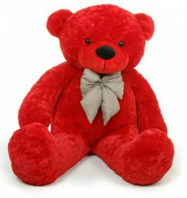 AVS 3 Feet Teddy Bear For Gift (Red Color) - 91 cm(Red)