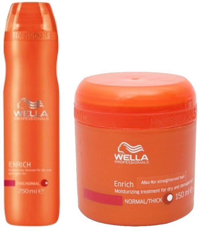 Enrich shampoo and mask-wella