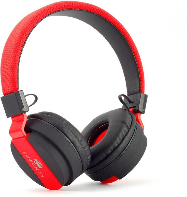 Zebronics AIR ONE Wireless bluetooth Headphone(Black & Red, On the Ear)
