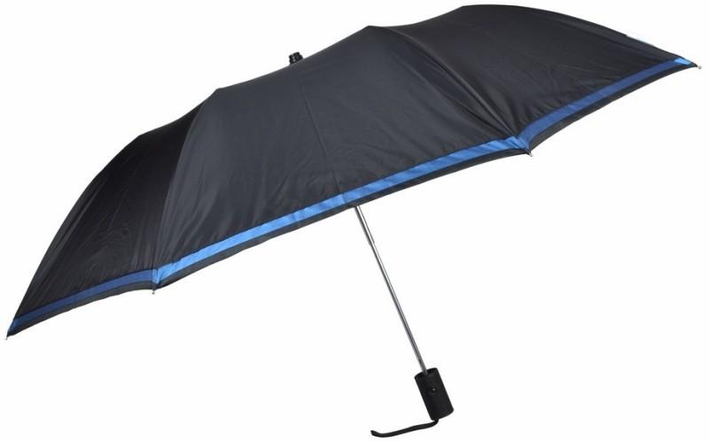 Fendo 2 fold automatic black color for men Umbrella(Black, Silver)