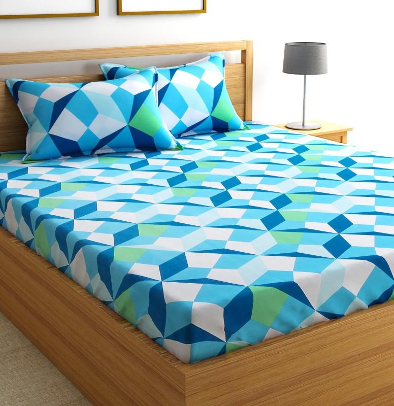Flipkart SmartBuy 144 TC Cotton Double Geometric Bedsheet(1 Double Bedsheet and 2...