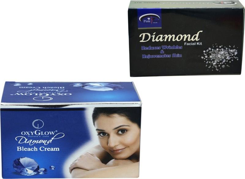 Oxyglow DIAMOND BLEACH WITH DIAMOND MINI FACIAL KIT(Set of)