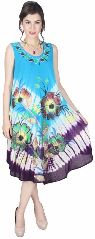 StarShop20 Women's Fit and Flare Multicolor Dress