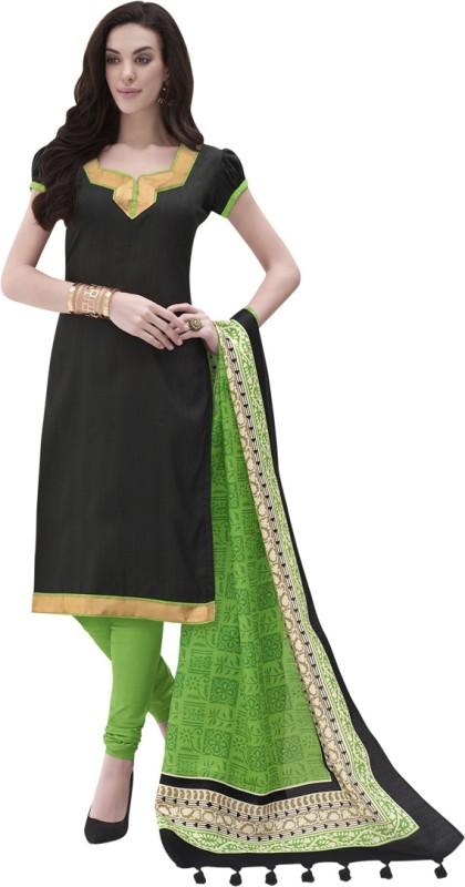 Swaron Cotton Silk Blend Solid Salwar Suit Dupatta Material(Un-stitched)