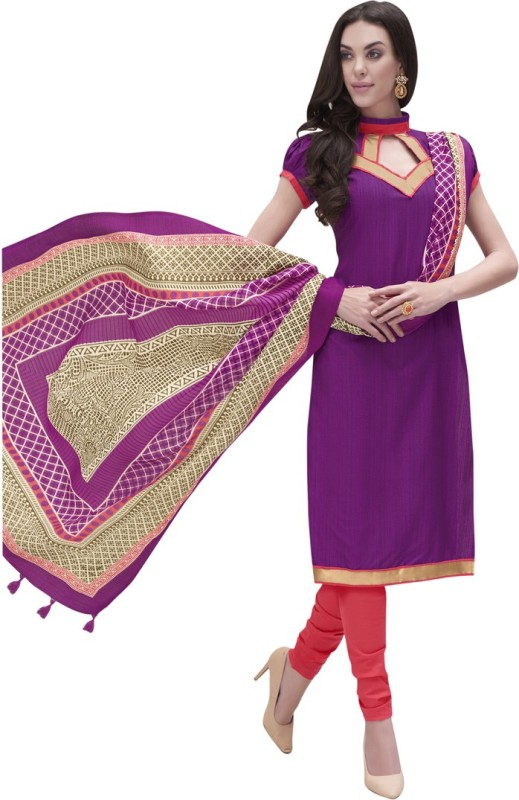 Swaron Cotton Silk Blend Solid Salwar Suit Dupatta Material(Un-stitched)