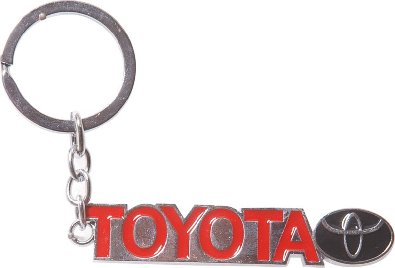 Oyedeal Toyota Metallic Key Chain(Red)