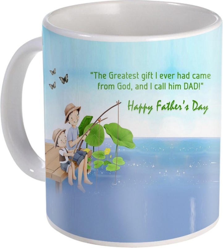 SKY TRENDS Gift For Fathers Day In Coffee His Anniversary/Birthday Present JSD-036 Ceramic Mug(350 ml)