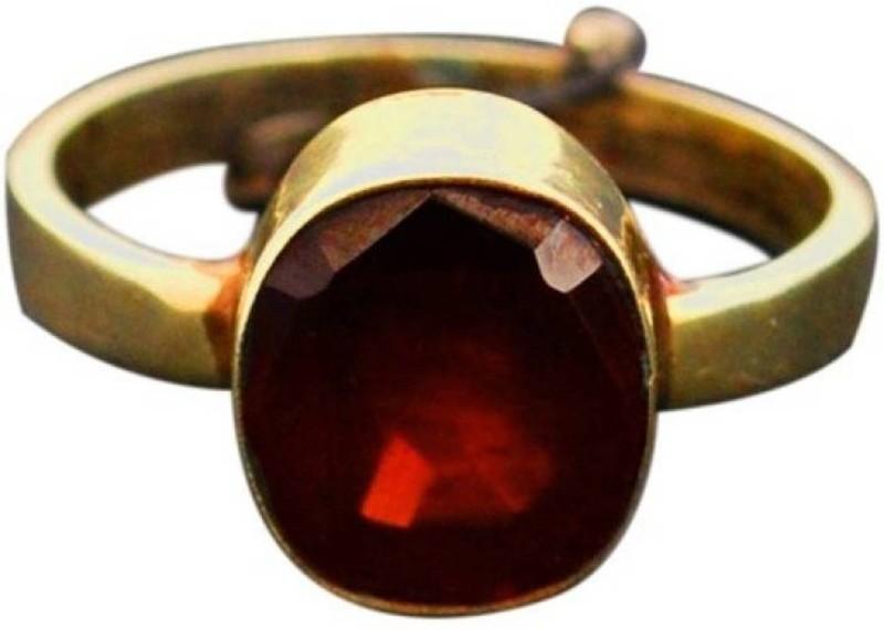Gruvi 6.25 Ruby Rashi Ratan With Lab Test Stone Ruby Platinum Plated Ring