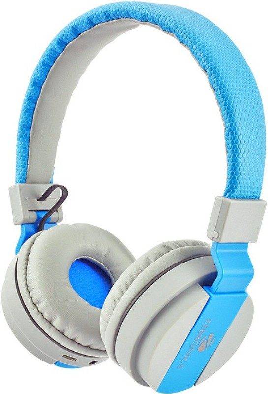Zebronics AirOne Blue Headphone(Blue, Over the Ear)