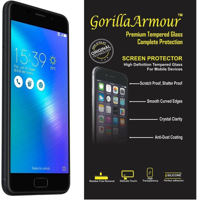 Gorilla Armour Tempered Glass Guard for Asus Zenfone 3S-Max