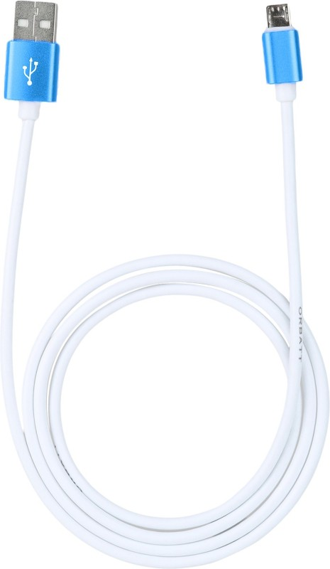 Orbatt High Speed Alcatel Idol 4s USB Cable(White, Blue)