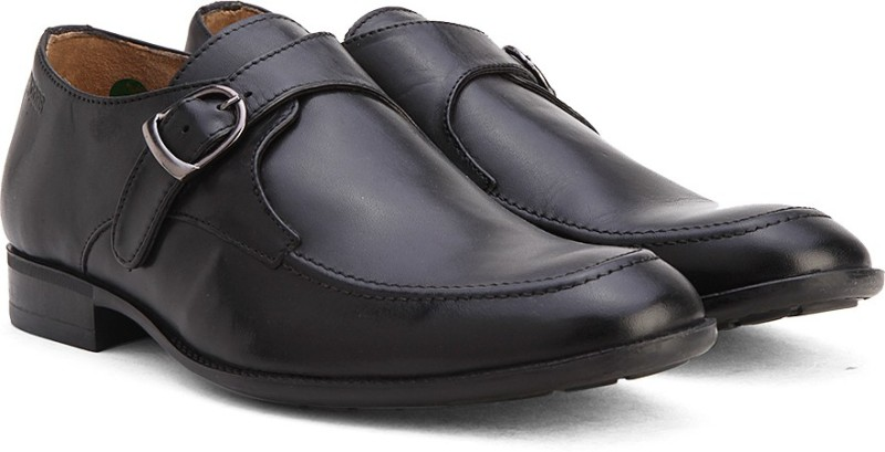 Woods Genuine Leather by Woodland Monk Strap For Men(Black)